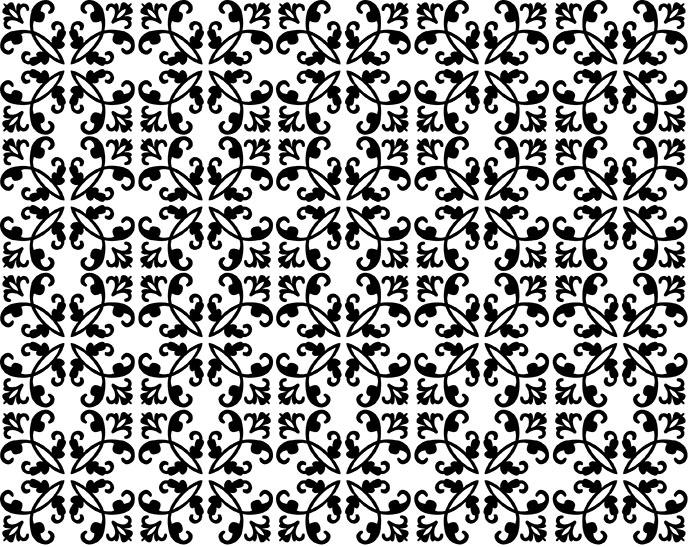 向上下左右四面八方反复连续重复排列并可无限扩展的图案就是四方连接