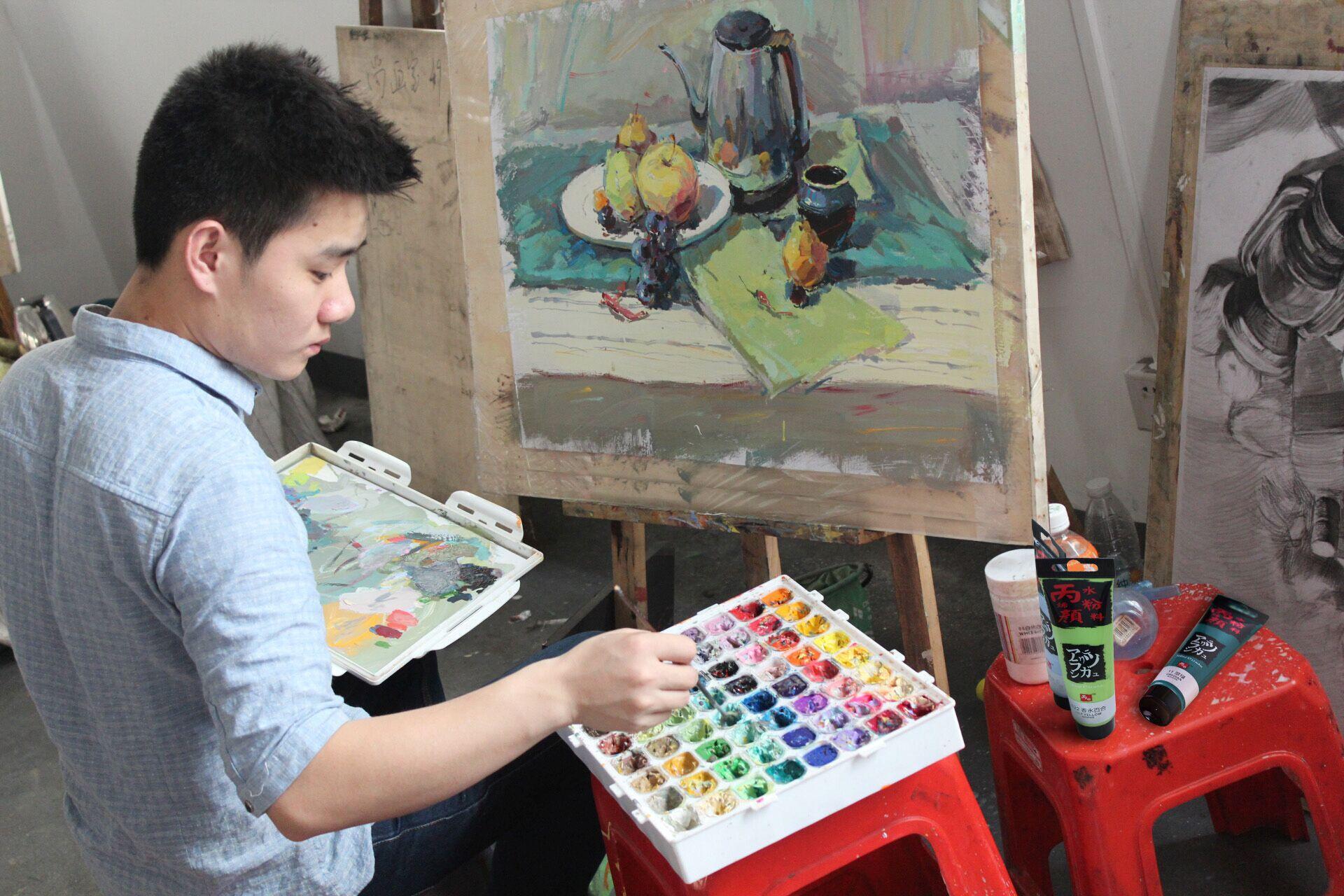 男神在杭州画室的时候