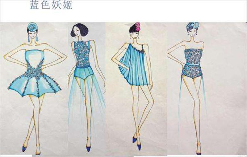 艺考生服装设计处女作